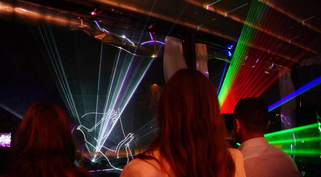 Лазерное шоу в Шале Берёзка