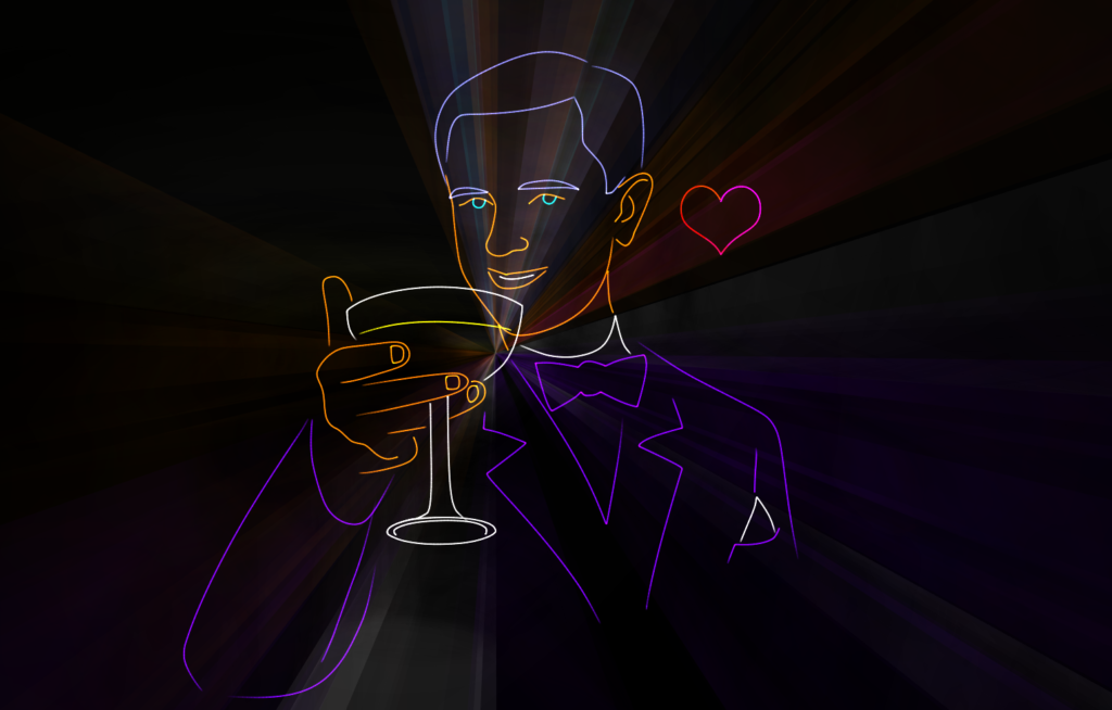 Лазерное шоу на свадьбе
